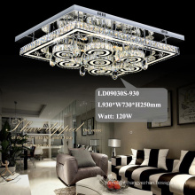 hotel chandelier square crystal fancy led ceiling lights